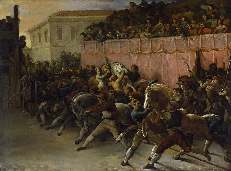 800px Théodore Géricault Riderless Racers At Rome Walters 37189