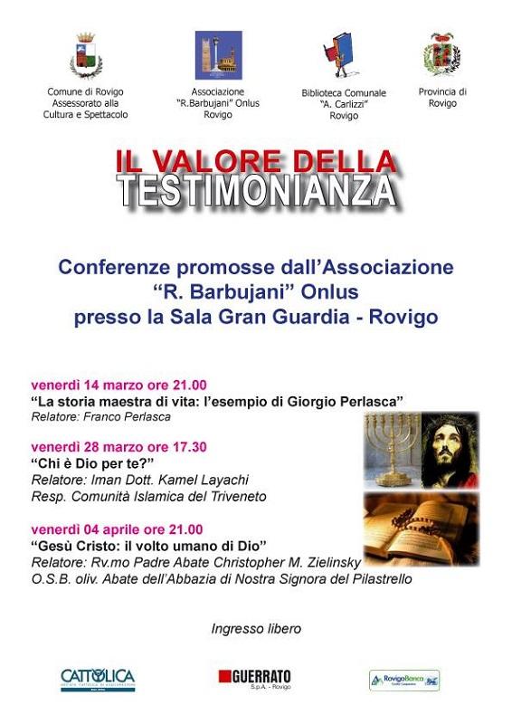 Associazione Renzo Barbujani Conferenze