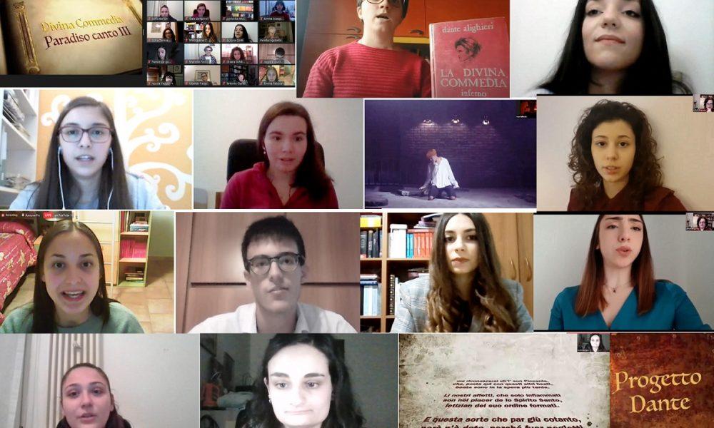 Dantedì Foto Riassuntiva Giovani Liceo In Evidenza