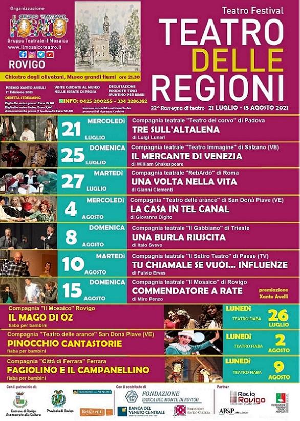 Poster Teatro Regioni 2021