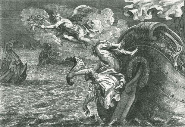 George Christoph Eimmert - Palinuro, Timoniere di Enea cade in mare