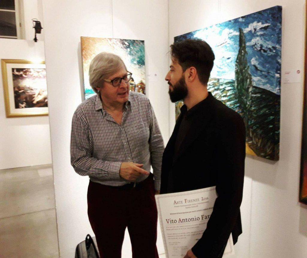 V.A. Faraone con il critico d'arte Vittorio Sgarbi