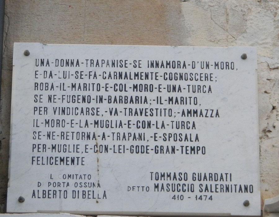 Scritta di Masuccio