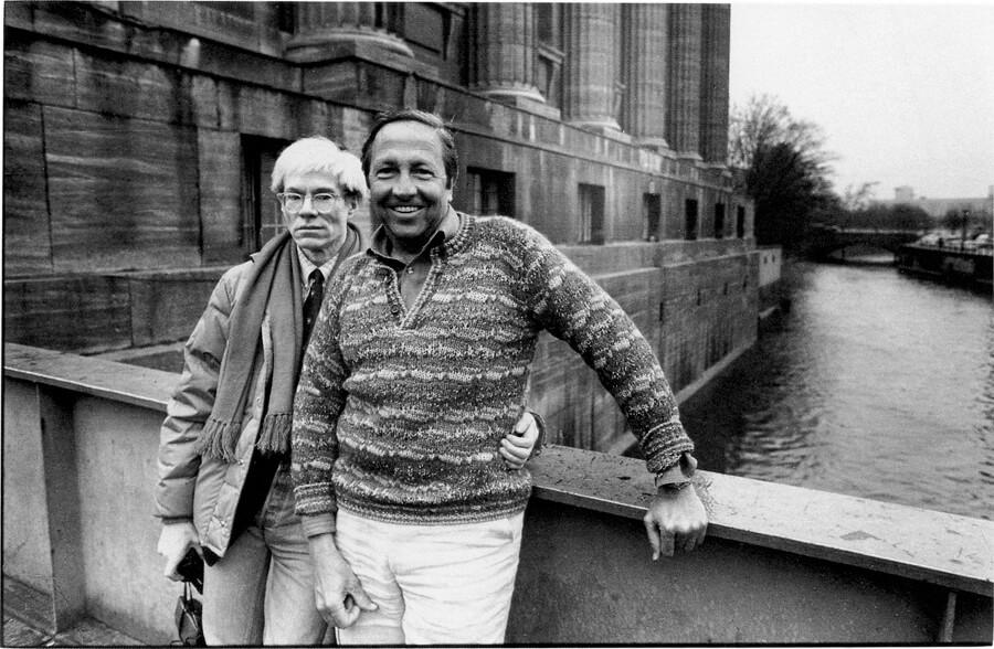Andy Warhol e Robert Rauschenberg