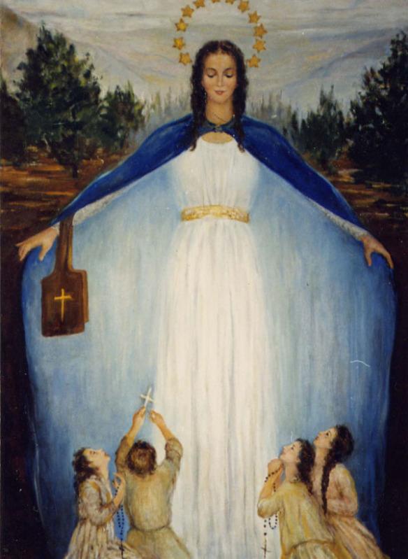 Santa Vergine con fedeli