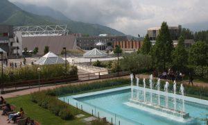 UNISAOrienta - Vista della fontana e di Piazza del Sapere dal plesso di Scienze Politiche