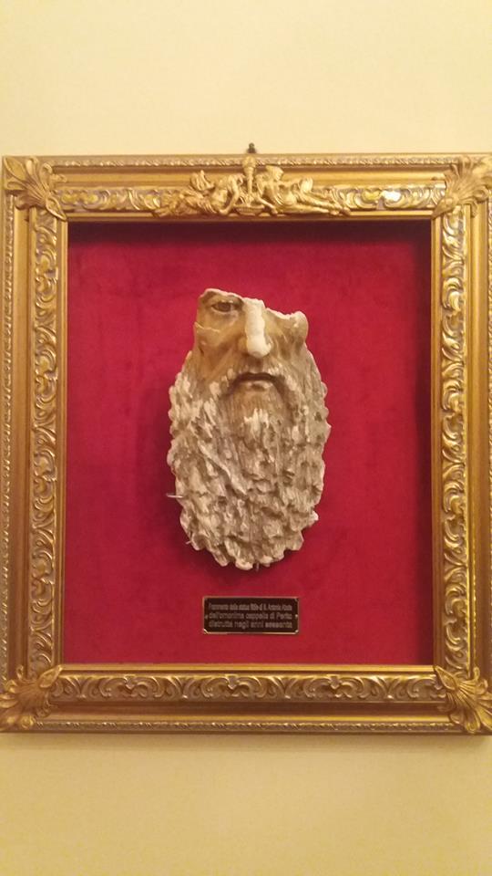 Sant'Antonio Abate - frammento del viso del Santo