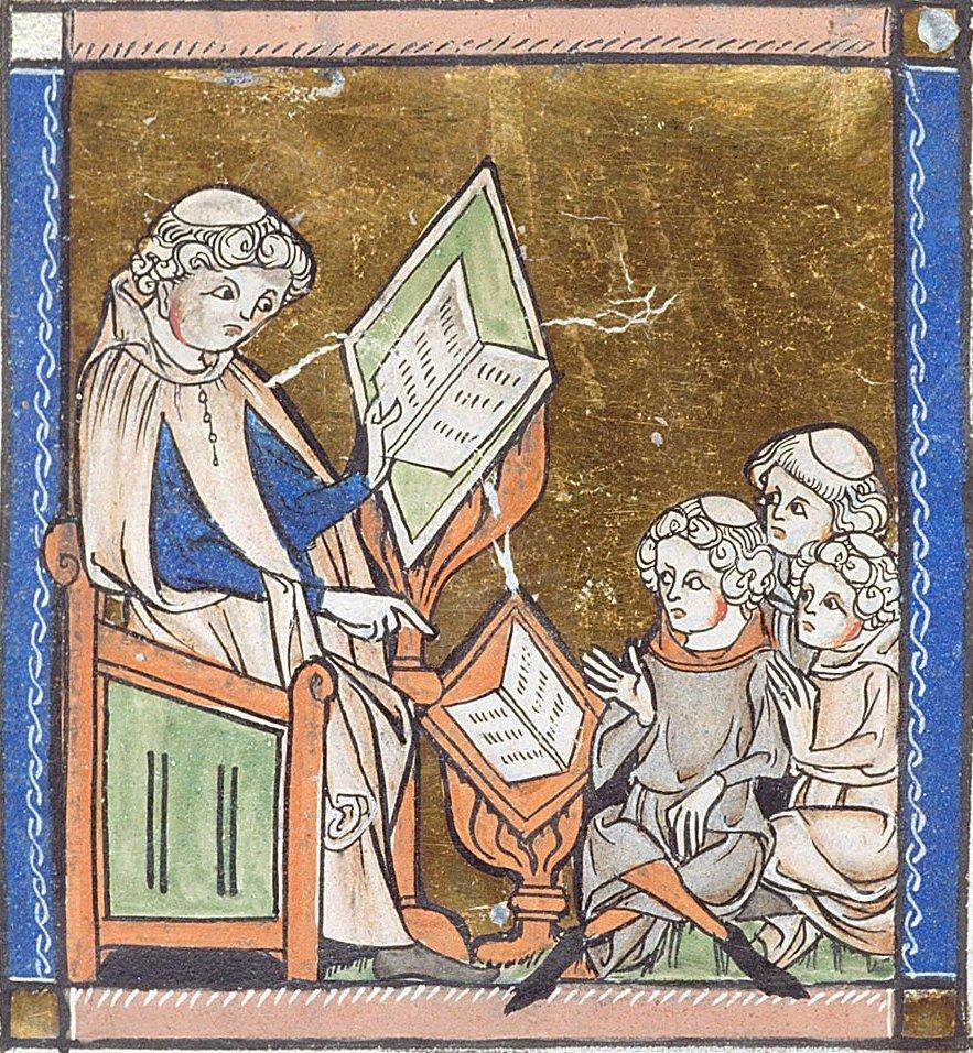 Donne e Medicina- Immagine di un monaco che legge un libro