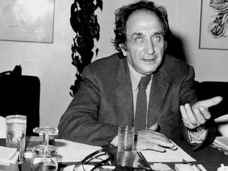 Una celebre foto del poeta Alfonso Gatto