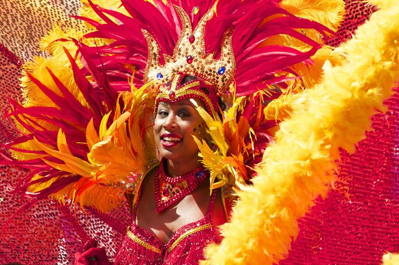 Donna trasvestita per il Carnevale