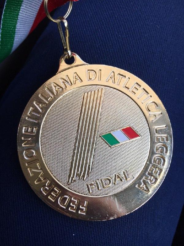 Immagine della medaglia vinta da Roberto Ricco