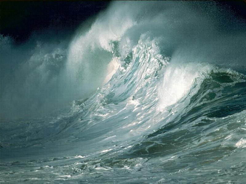 Leggende - Il mare in tempesta, minaccioso e burrascoso