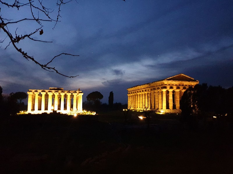 Gelbison e Paestum, notti magiche