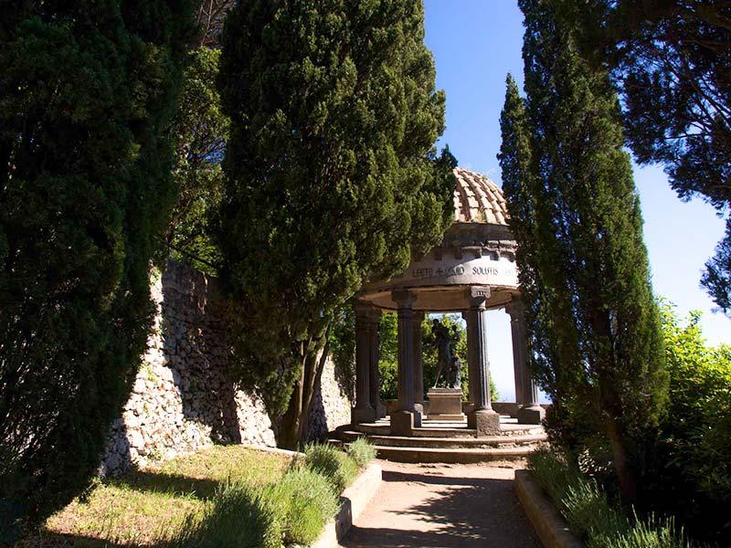 La città di Ravello- Villa Cimbrone celebre edificio storico di Ravello