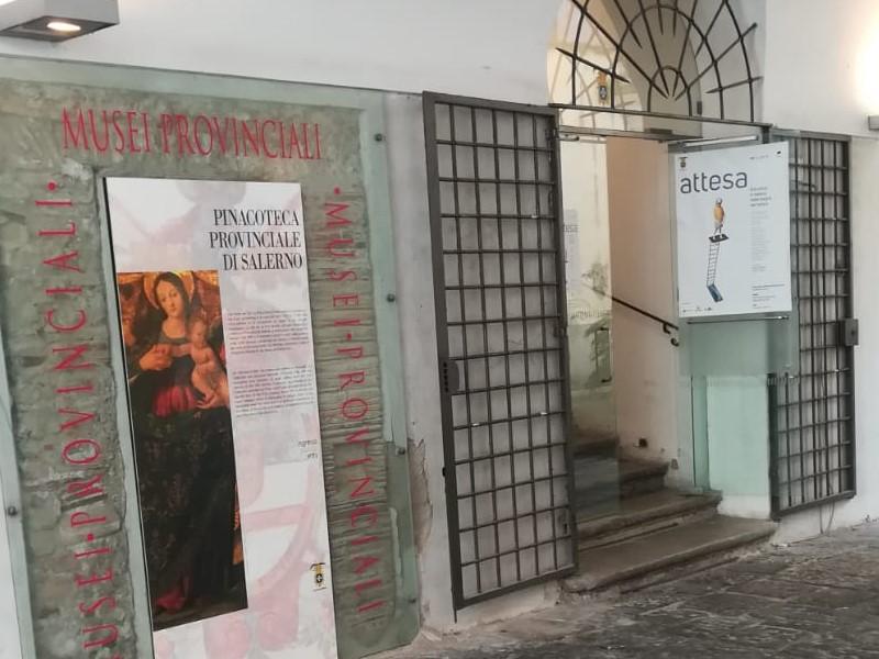 Pinacoteca di Salerno-Accesso principale alla pinacoteca provinciale di Salerno