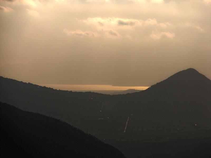Foto del mare del Golfo di Salerno al tramonto