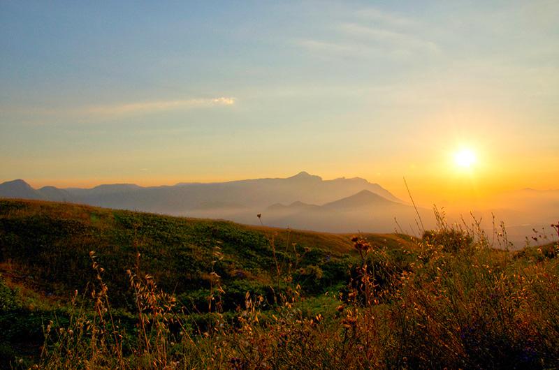 Caggiano - Vista dei Monti Alburni