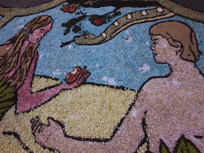Adamo ed Eva ad Ogliara in fiore