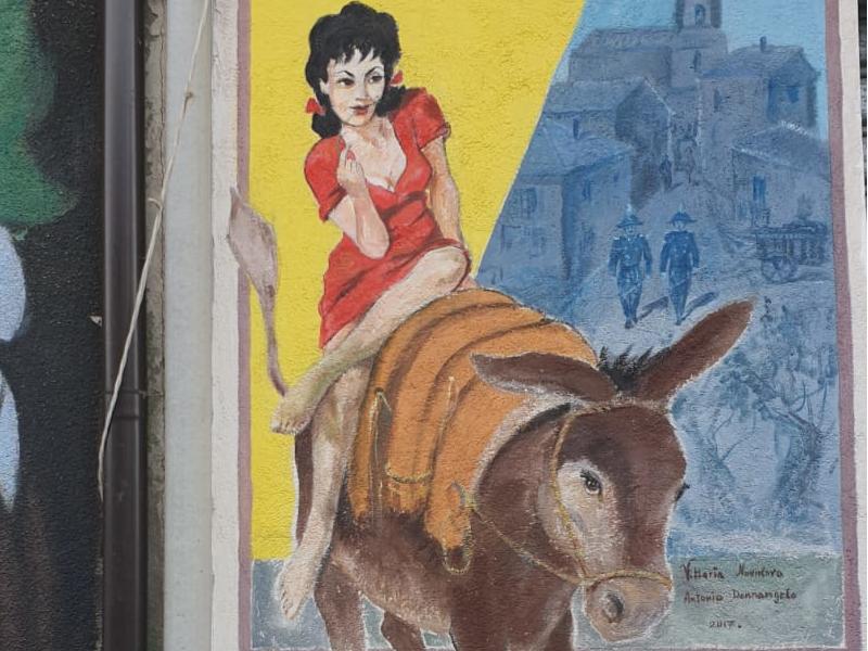 I murales popolari nel paese cilentano della street art