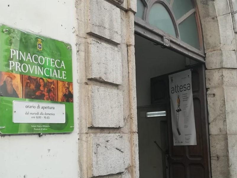 Pinacoteca di Salerno- portale principale del Palazzo Pinto