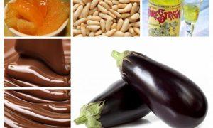 Ingredienti delle Melanzane Al Cioccolato