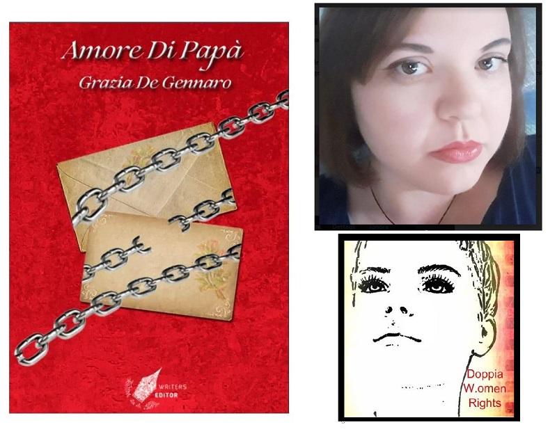 Le copertine del libro e della pagina fb di grazia de gennaro
