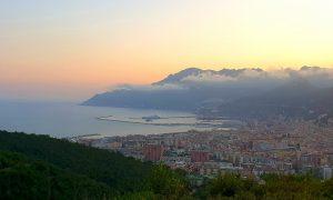 Mare e tramonto a Salerno