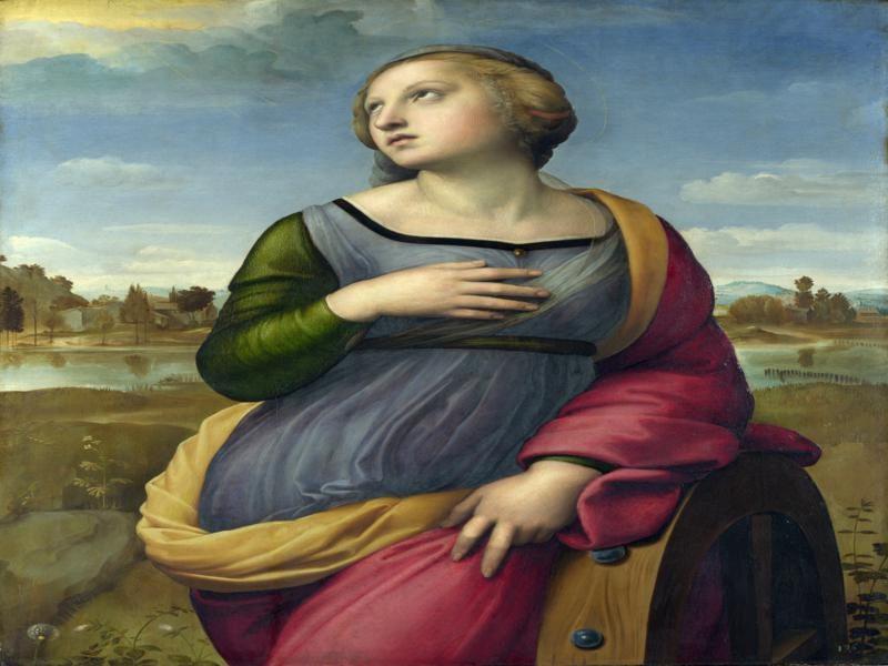 Santa Caterina in un noto dipinto