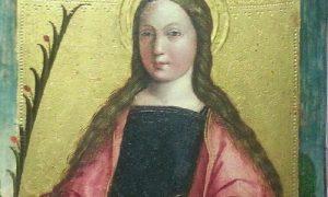 Santa Lucia in un dipinto