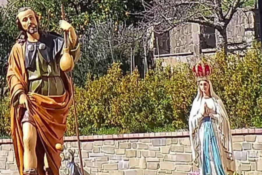 Le immagini di San Rocco e della Madonna