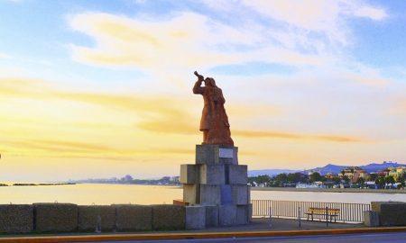 Statua Pescatore Tramonto