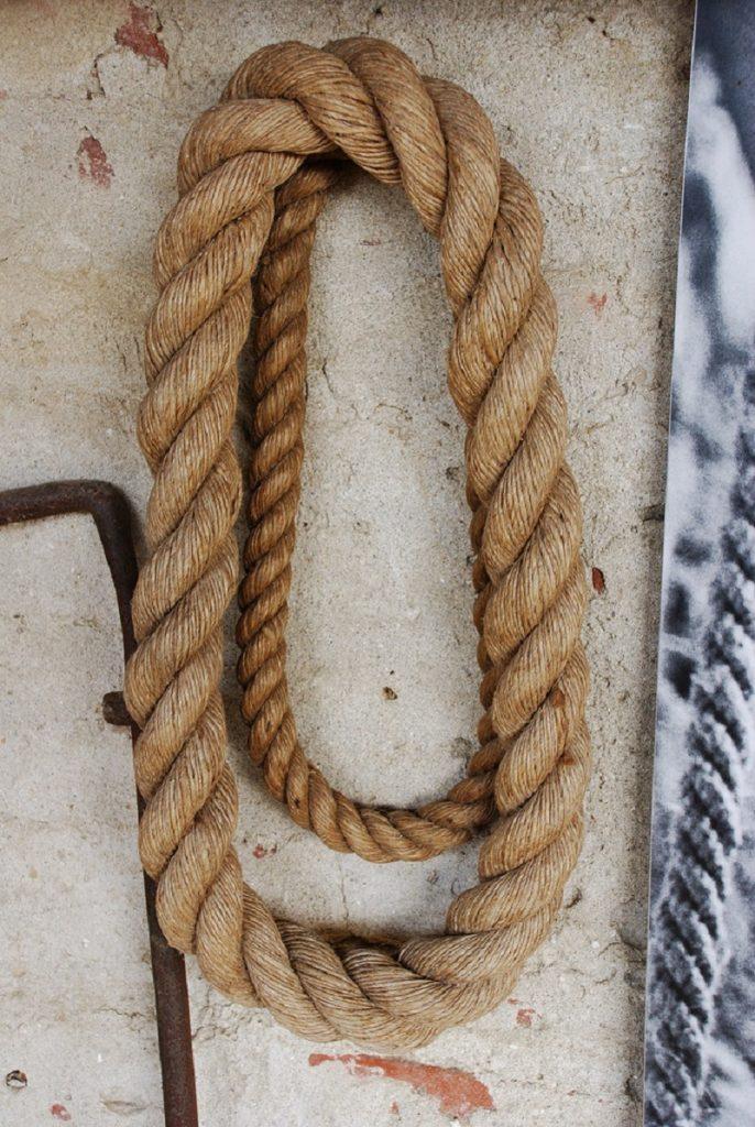 Una fune prodotta dal funaio