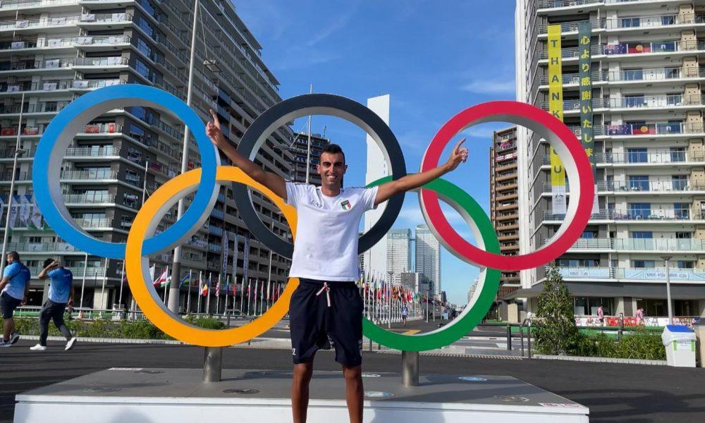 Samuele burgo impegnato all'olimpiade