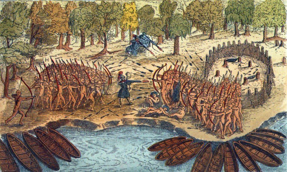 Dipinto sulla guerra degli Iroquois