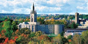 University of Western Ontario, veduta dall'alto con logo