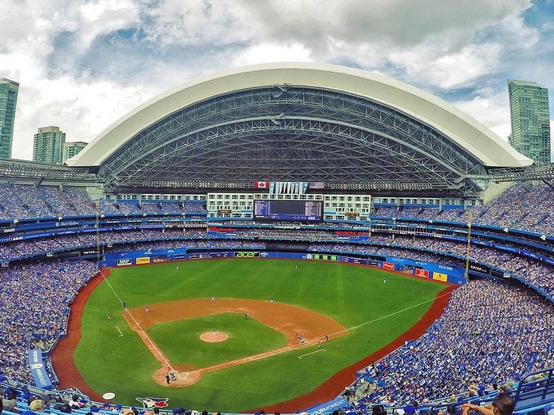 Rogers Centre. Panoramica dell'interno della struttura.