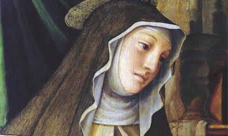 Santa Chiara - la santa in un dipinto