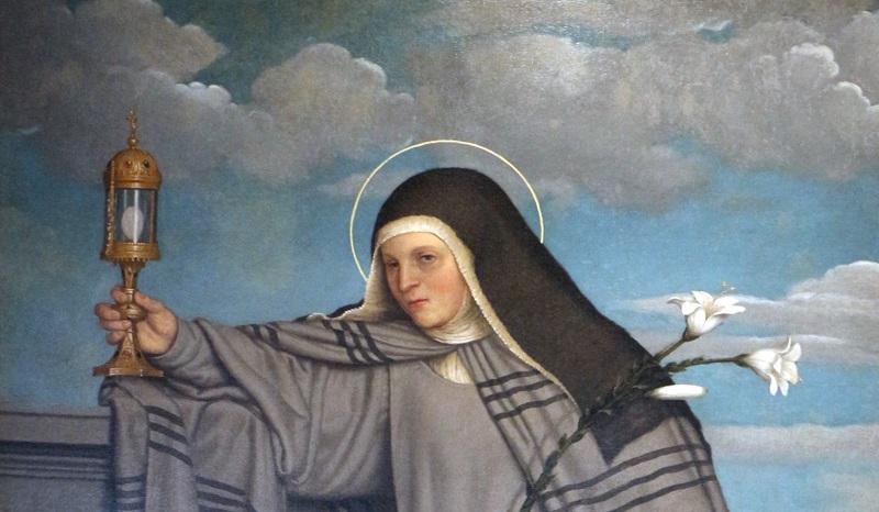 Dipindo con Santa Chiara che mostra la Pisside all'esercito di Federico II