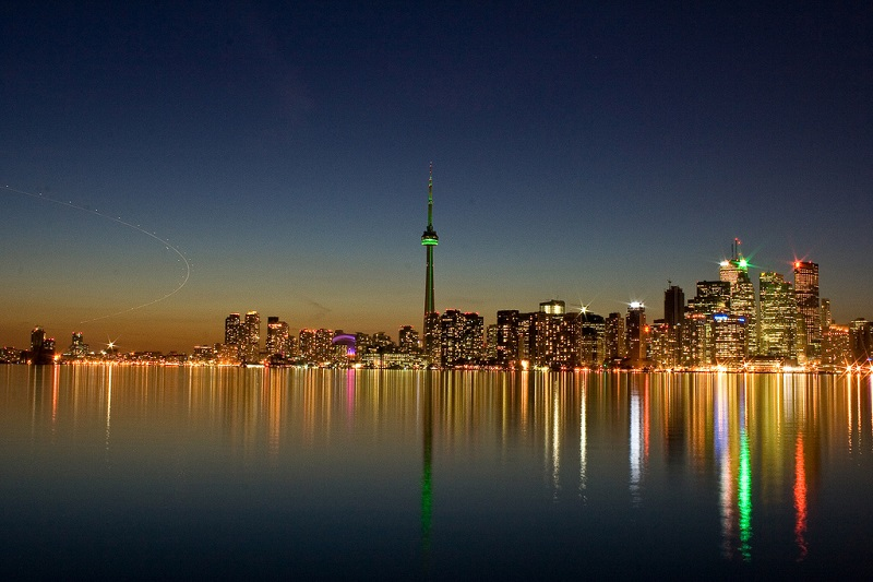 San Valentino a Toronto - la città Di Notte