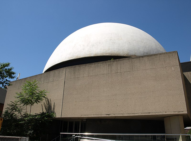 Leggenda del fantasma del Planetario - la struttura esterna