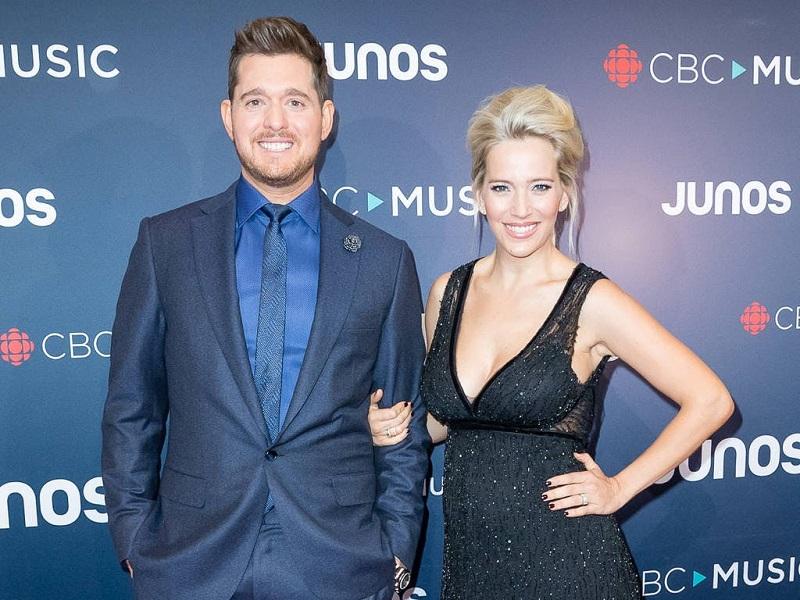Michael Bublé con la moglie