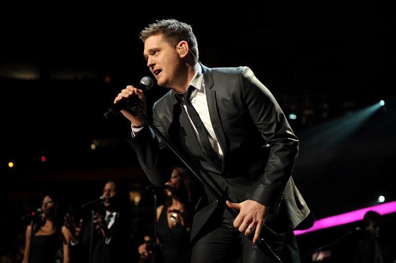 Michael Bublé durante un'esibizione
