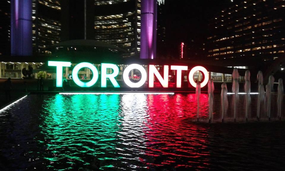 Toronto con i colori dell'Italia in occasione dell'italian heritage month