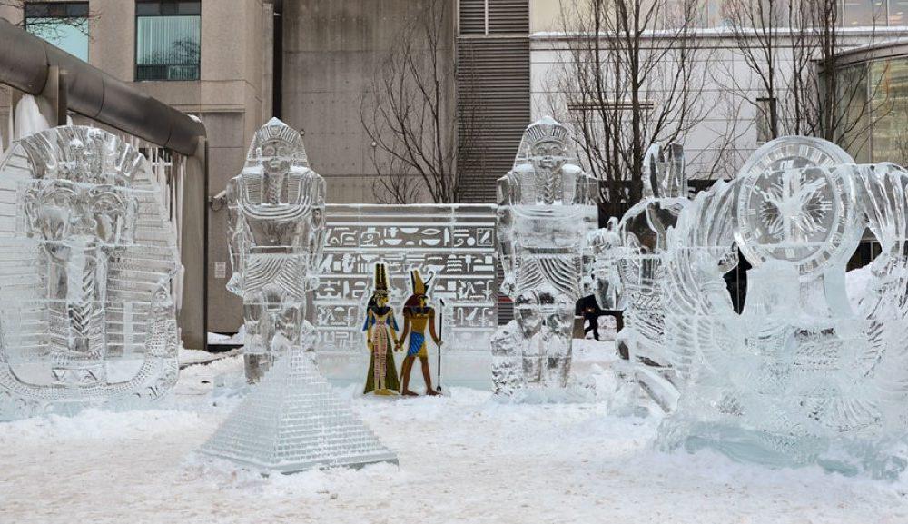 una foto di una scultura dell'Icefest