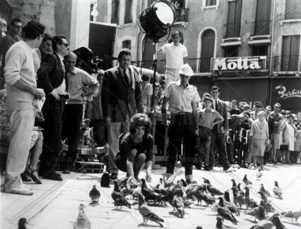 piazza dei signori treviso - riprese di un film