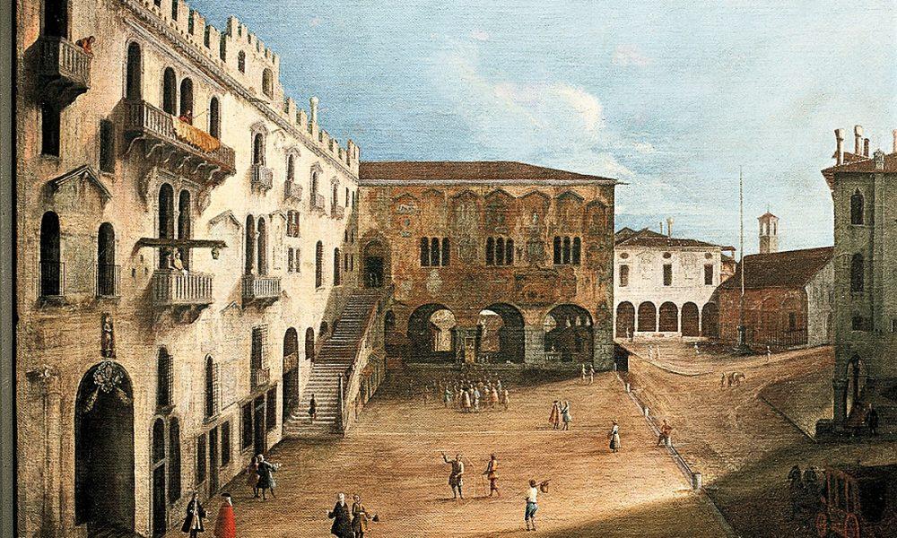 Dipinto Piazza Dei Signori Treviso
