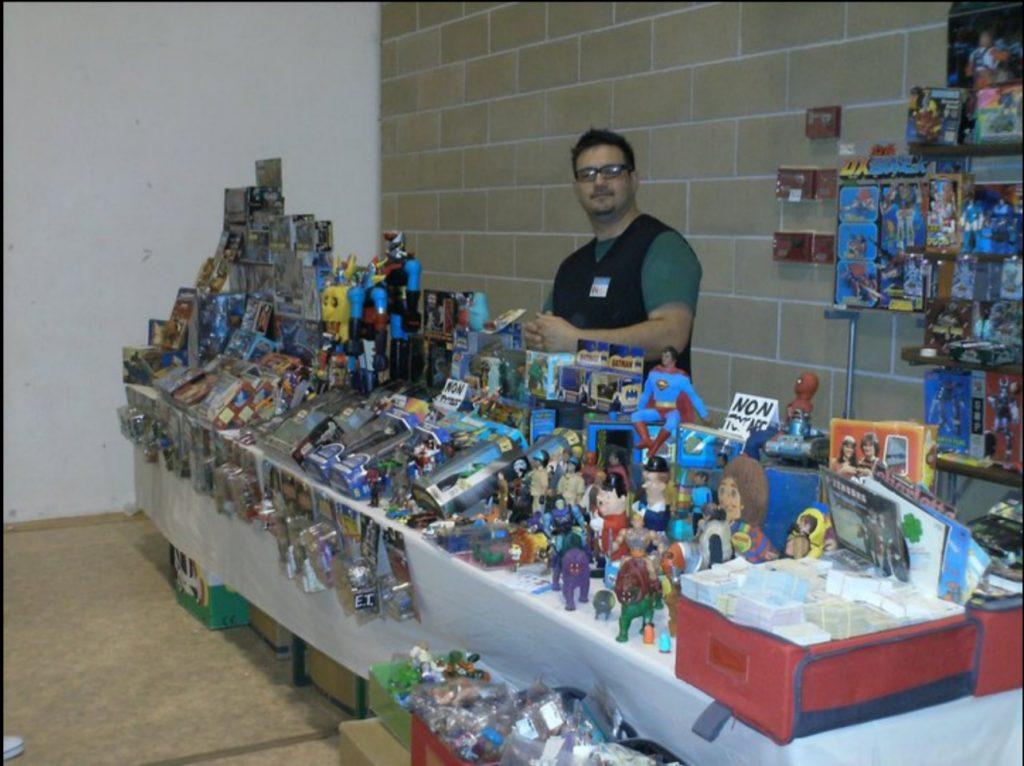 Ivan Zollet ad una mostra - mercato