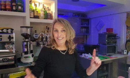 Jolanda Zerella al ristorante