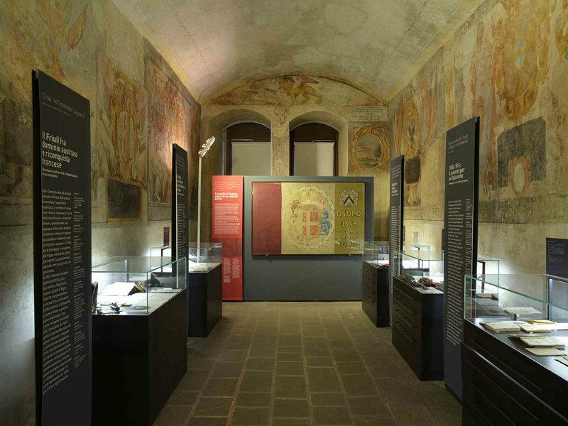 Castello Di Udine, particolare della sala del Museo del Risorgimento