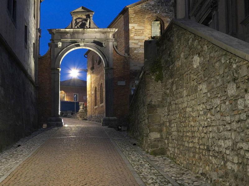 Castello Di Udine, l'ultima parte della salita che porta al castello